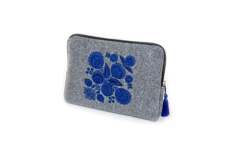 Farbotka Tablettasche gemusterte blau