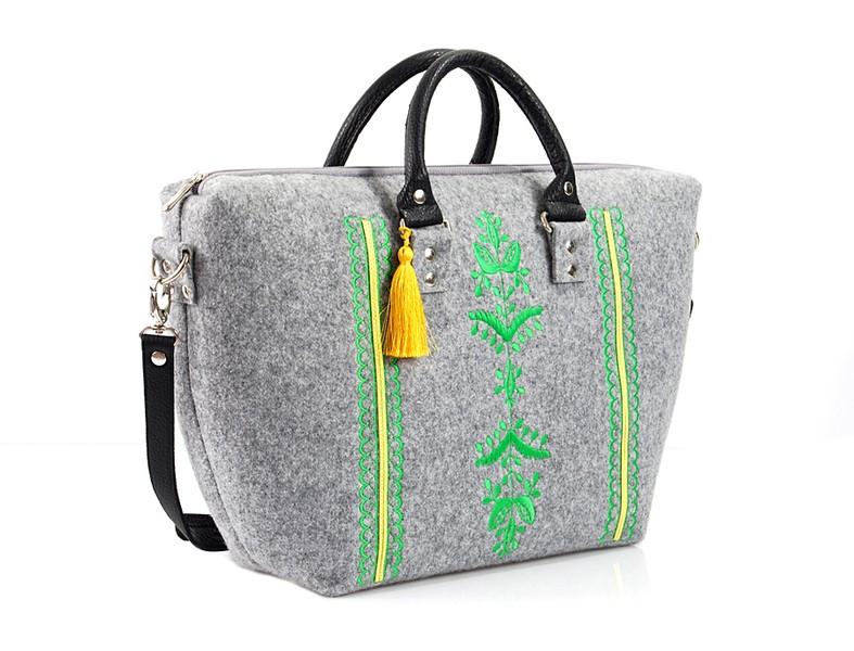 farbotka handtasche hre gr n handtaschen aus filz filztaschen. Black Bedroom Furniture Sets. Home Design Ideas