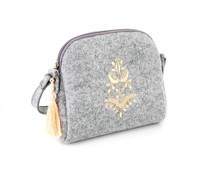 Farbotka Handtasche Glocke beige