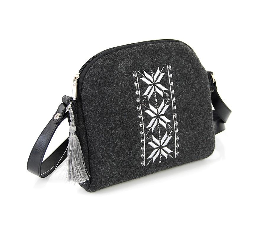 Farbotka Handtasche Rhombus weiß gemustert