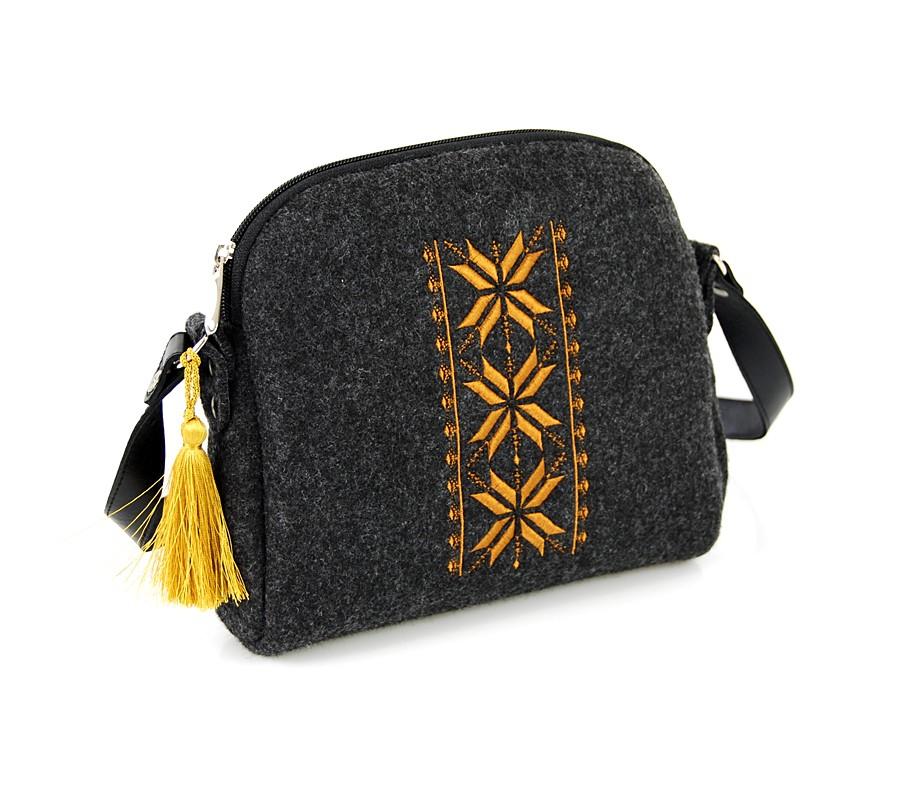 Farbotka Handtasche Rhombus gelb