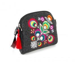 Farbotka Handtasche Blumen schwarz