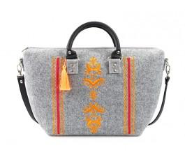 Farbotka Handtasche Ähre grau