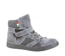 Tesoro High Top Sneaker grau mit Filz