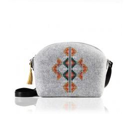 Farbotka Handtasche Ornament grau