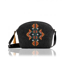 Farbotka Handtasche Ornament schwarz