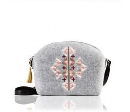 Farbotka Handtasche Ornament gemustert grau
