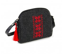 Farbotka Handtasche Rhombus Rot gemustert