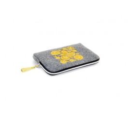 Farbotka Tablettasche gemusterte gelb