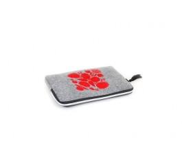 Farbotka Tablettasche gemusterte rot