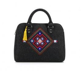 Farbotka Handtasche Quadrat schwarz