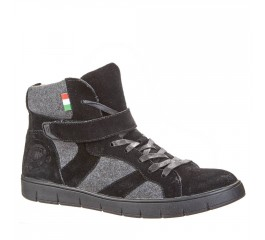 Sneaker für Herren Tesoro High Top schwarz grau mit Filz