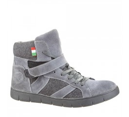 Tesoro High Top Sneaker grau mit Filz