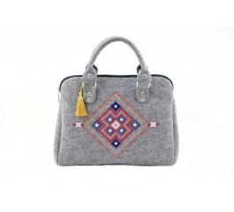 Farbotka Handtasche Quadrat grau